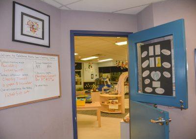 Door to daycare